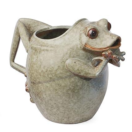 Amazon Skalny 83241 9x55x7 Round Ceramic Frog Vase Home
