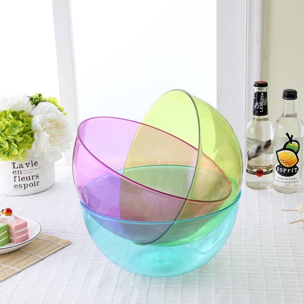 takestop/® Ciotola Insalatiera Set 2 Pezzi Plastica 20 Cm 1500 Ml Contenitore Frutta Verdura Cucina PIC Nic Lavabile Colore Casuale