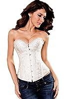 Saphira lingerie. Corset blanc avec motif floral. Se porte aisément sur un jean