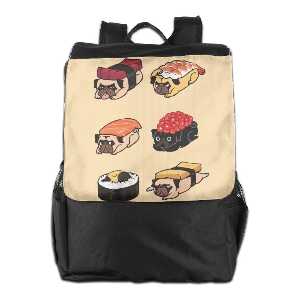 Believe Ddspp Sushi Pug Outdoor Backpack Rucksack Laptop Bag