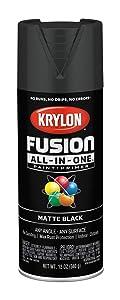 Krylon K02754007 Fusion All-in-One Spray Paint, Black
