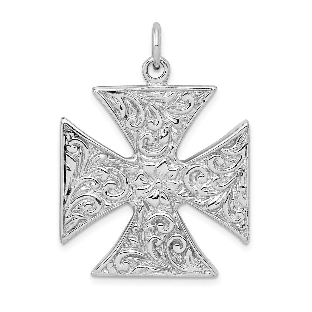 Diamond2Deal 925 Sterling Silver Rhodium-plated Polished Celtic Pendant