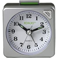 KORJO AAC 73 Analogue Alarm Clock, 5.5 Centimeters, Silver/Black