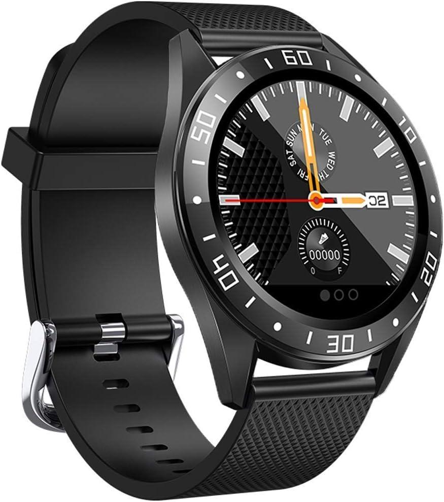 jpantech smartwatch Reloj Inteligente Hombre 5ATM Impermeable con Cronómetro Pulsera Actividad de Fitness con Podómetro Smartwatch Niños para Xiaomi Huawei y iOS Android(Negro)