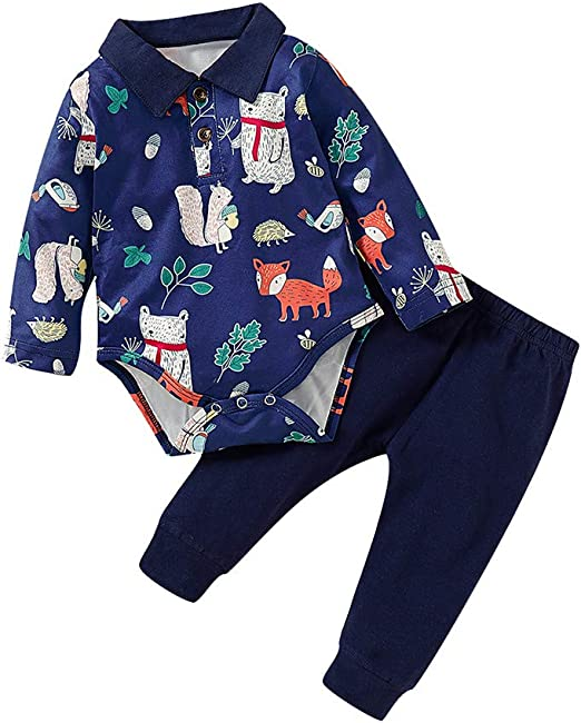 NEW W//T FISHER PRICE BOYS 2 PIECE PANTS FIRE DOG OUTFIT SZ 0-3 MONTHS