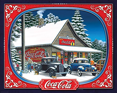 Springbok Puzzles - Holiday Tidings - 1500 Piece Jigsaw Puzzle - Large 28.75 Inches by 36 Inches Puzzle - Made in USA - Unique Cut Interlocking Pieces (Coca Cola Puzzle 500 Piece)