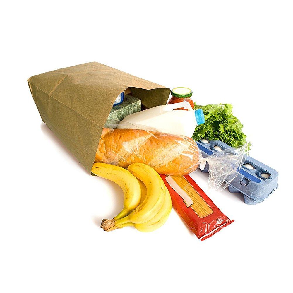 18x9x5.5cm gespout 100/pezzi carta kraft buste Colazione Pane tasche quadrato sacchetto di carta alimentare sacchetto di carta oelbestaendige Confezione Sacchetto di carta marrone