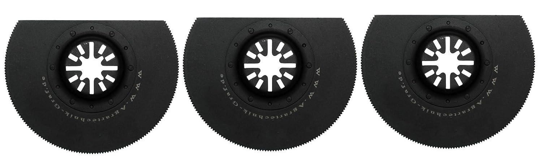 Plastik Agrartechnik-Graf Segments/ägeblatt 88 mm Halbrund f/ür Holz Metalle aus HSS Stahl 3er Set f/ür Fein Multimaster