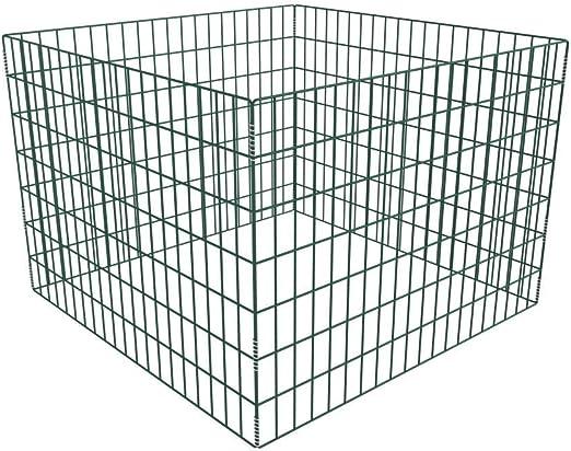 Tidyard Compostador Mallado y Cuadrado para el Jardín de Resistente a la Corrosión de Acero Recubierto de Polvo 100 x 100 x 70 cm: Amazon.es: Hogar