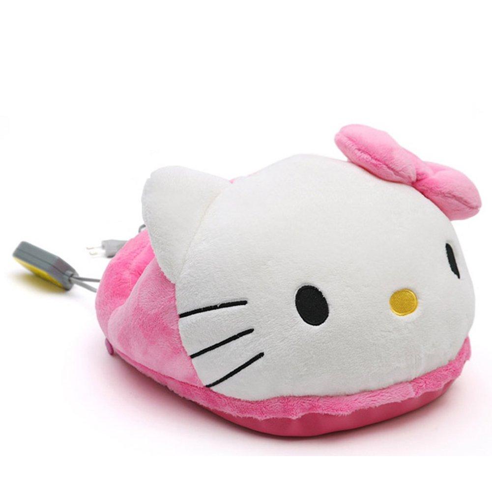 Hello Kitty Heading Doll Electric Foot Warmer Sleeper Mat Heater Foot Cushion Pad Stove Knee Blanket 220V