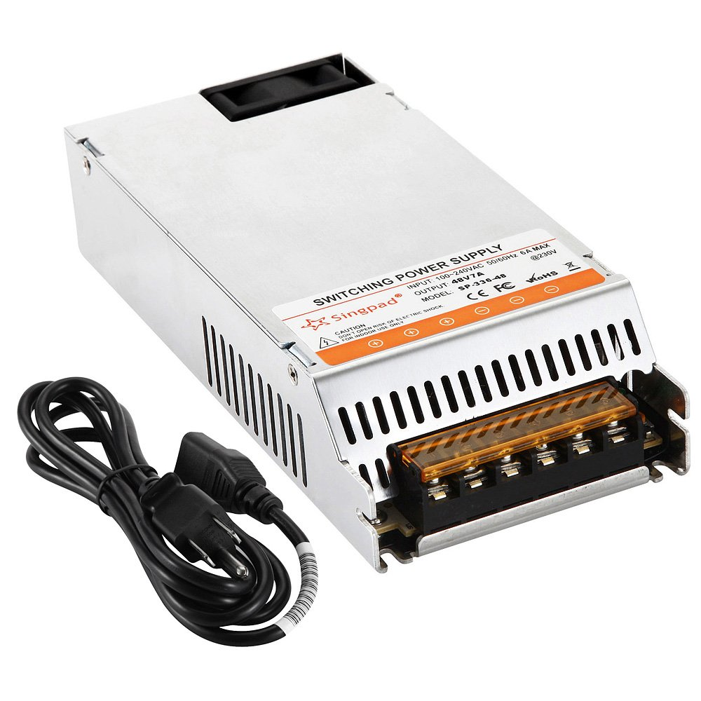 Singpad upgrade version ultra Slim Dc 48V 336Watt Universal Regulated Switching Power Supply Driver Transformer with 3-Prong Plug