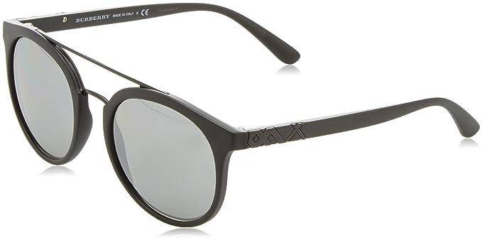 83599da73bd9 Burberry BE4245 34646G Matte Black BE4245 Round Sunglasses Lens Category 3  Lens