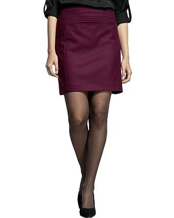 Comma - Falda para Mujer, Talla 36, Color Burdeos 4914: Amazon.es ...