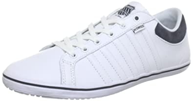 e69a5dca1455 K-Swiss Unisex Adults  HOF IV VNZ Low White Size  6.5  Amazon.co.uk ...