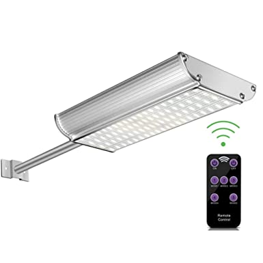 70 LED Induction Wall Light with Remote Controller – Motion Sensor Street Light, 5 Working Modes IP65 PIR Exterior Security Wall Light for Patio, Deck, Yard, Garden by Getseason