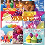 POSTCARDS: Birthday Dozen, box of 60 postcards, 5 each of 12 different designs