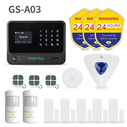 Golden Security Wireless Home U0026 Besiness Alarm System ,DIY Home Protecting  For Alarm Security System