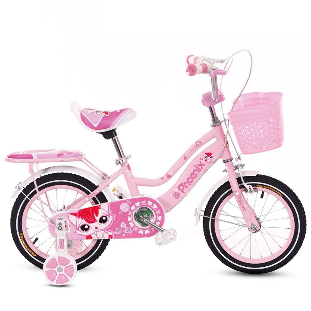 子供の自転車2-4-6歳の自転車バイク12/14/16/18インチの女の子のベイビーベビーカーキッズバイクピンク ( Size : 14 inches )   B07DRH8Z4Q