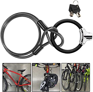 BICYCLE ANTI THEFT SECURITY LOCK LOCKING STEEL CABLE 3 FOOT BICYCLE COOLER TREE