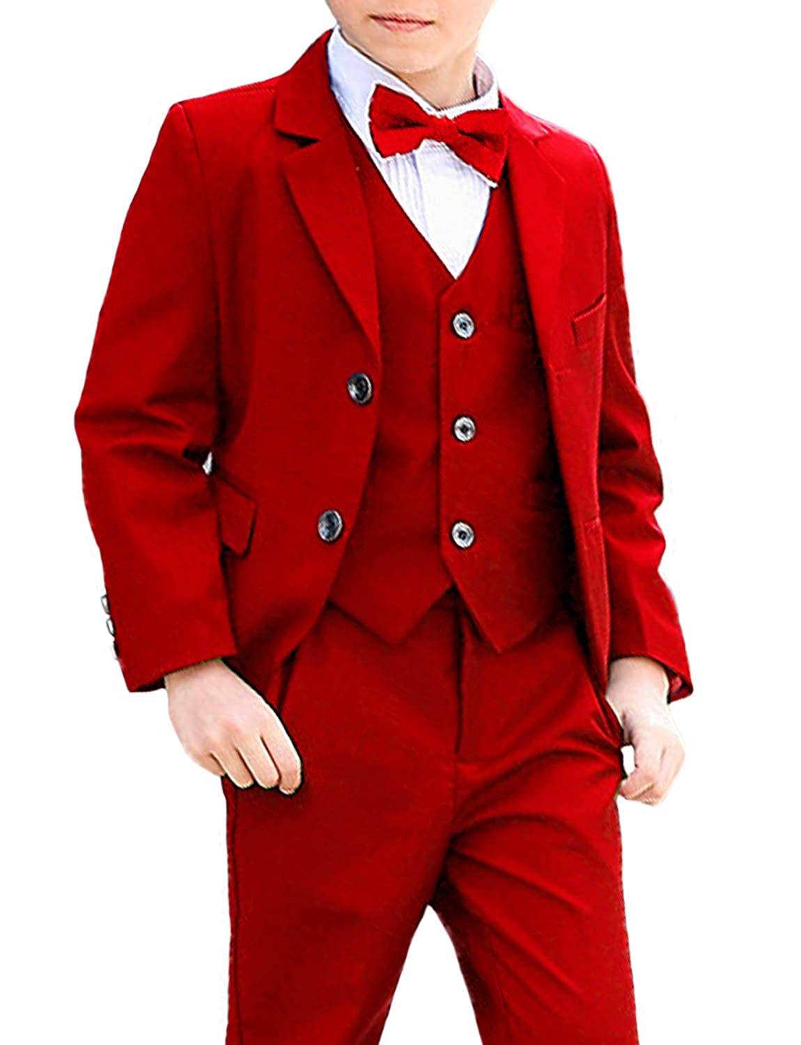 DGMJ Wedding Suits for Boys Slim Fit Fashion 3 Piece Boy Formal Dresswear Set for Birthday HTXZ003