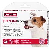 Beaphar - FIPROtec, pipettes anti-puces et anti-tiques au Fipronil - chien de 2 à 10 kg - 3 pipettes