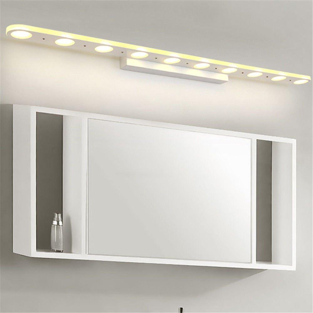 BOOTU Luz delantera de vidrio de 1m30w led espejo baño baño apliques de luz en un hotel de 5 estrellas refleja la luz delantera luz cálida atmósfera de plaza banco de luz,