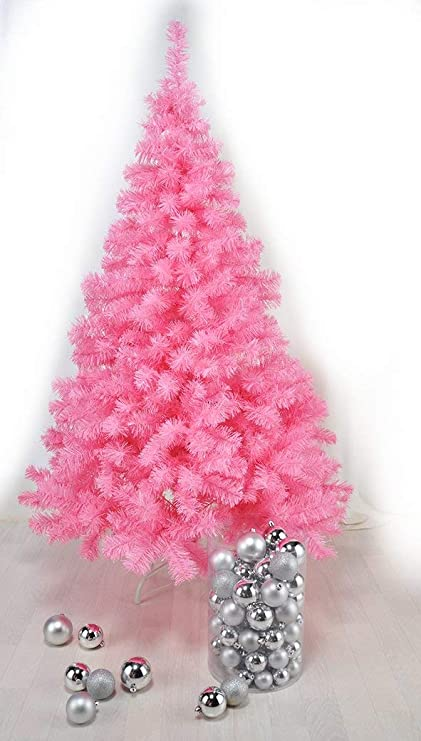 Pink Christmas.Pink Christmas Tree Made Of Plastic With Stand 150 Cm