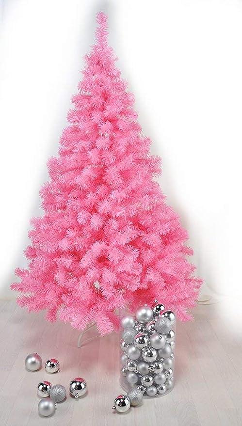 Tannenbaum Kunststoff.Weihnachtsbaum In Pink 150 Cm Christbaum Tannenbaum Aus Kunststoff Mit Stander