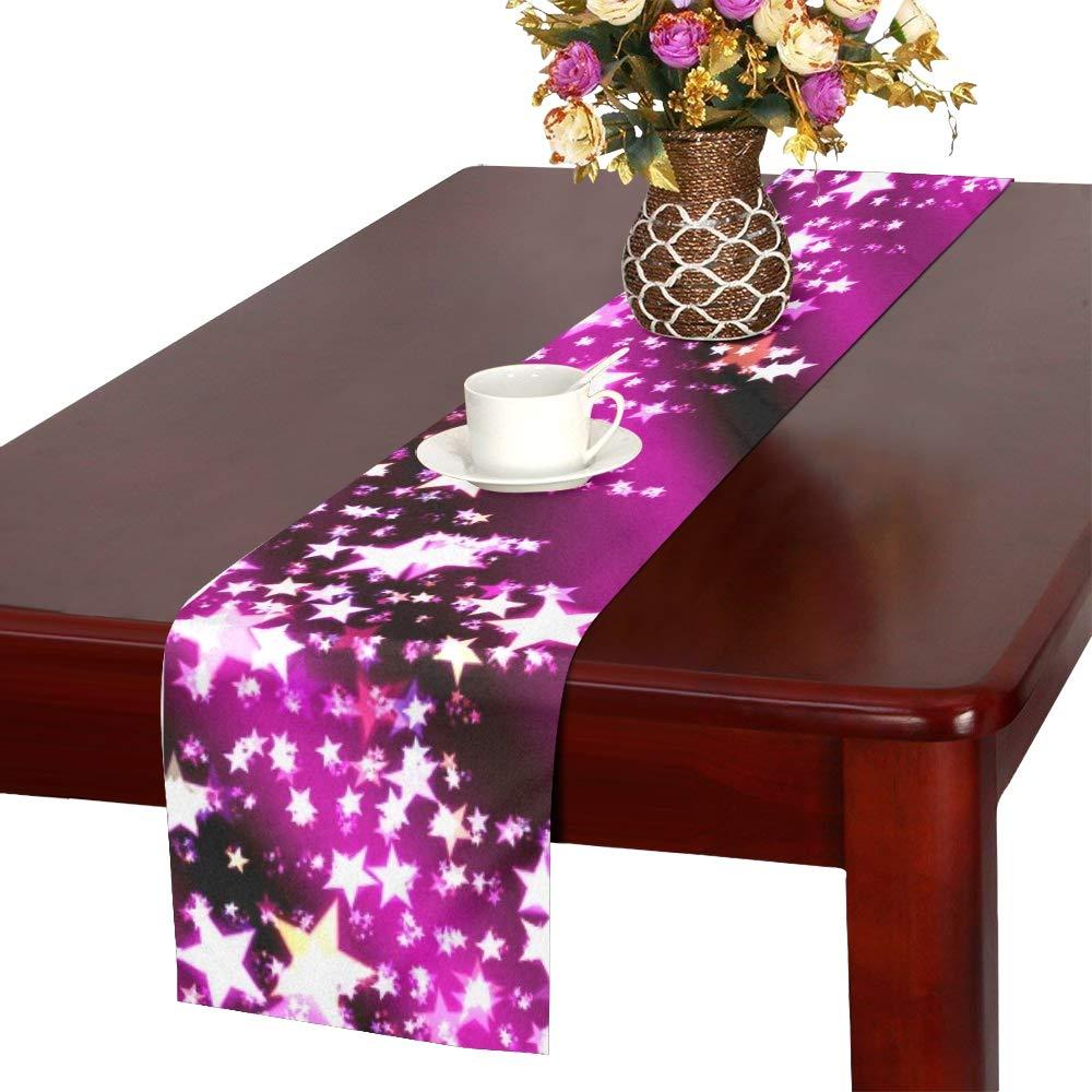 クリスマス スター アドベントクリスマスカード テーブルランナー キッチン ダイニングテーブルランナー 16 x 72インチ ディナーパーティー イベント 装飾   B07G7XYTFX