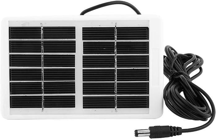 Dioche Panel Solar, 6V 12.W Cargador de Panel Solar a Prueba de Agua Portátil Multifunción al Aire Libre para Ventilador de Lámpara de Emergencia