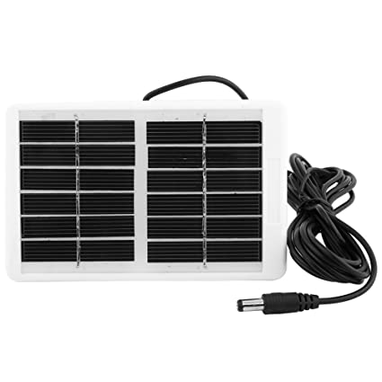 Asixx Solar Panel Charger, 6V 12.W Outdoor Multi-Function Portable Waterproof Solar Panel Charger for Emergency Lamp Fan, Outdoor Activities, ...