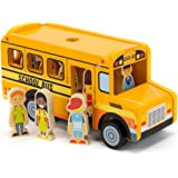 Back to School Bus Wooden Vehicle Play Set with 8 Character Figures, 7 Students, 1 Bus Driver by Imagination Generation