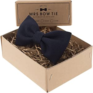 Mrs Bow Tie Cameron Ready-Tied Bow Tie - Blue