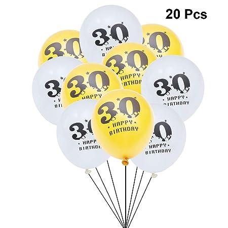 Toyandona - Globos de látex con número 30 para 30 cumpleaños ...