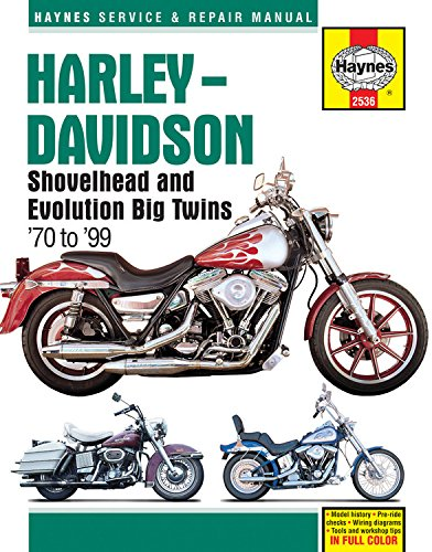 Harley-Davidson Shovelhead and Evolution Big Twins '70 to '99 (Haynes Service & Repair Manual)