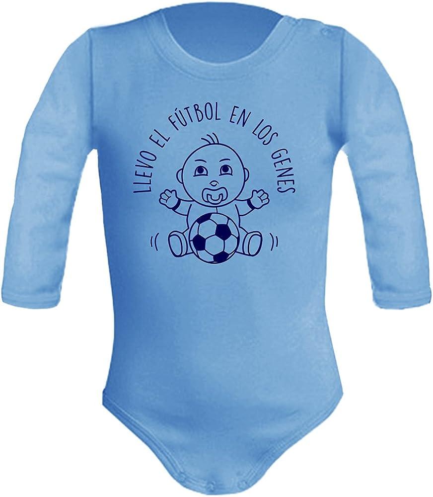 Body bebé unisex Llevo el fútbol en los genes. Regalo original. Body bebé divertido. Bebé deportista. Manga larga.