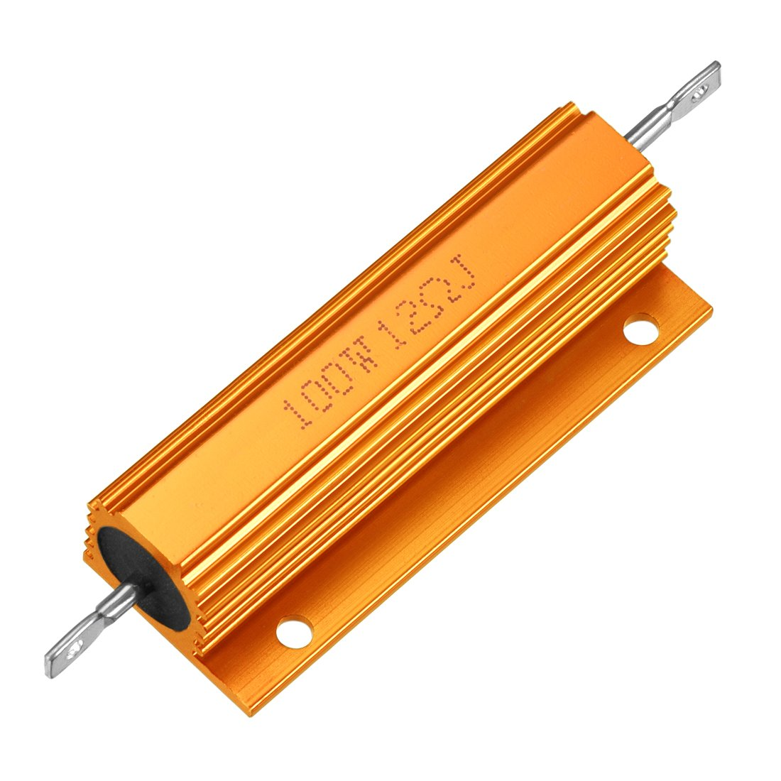 sourcingmap Aluminum Case Resistor 100W 12 Ohm Wirewound Gold for LED Replacement Converter 100W 12RJ