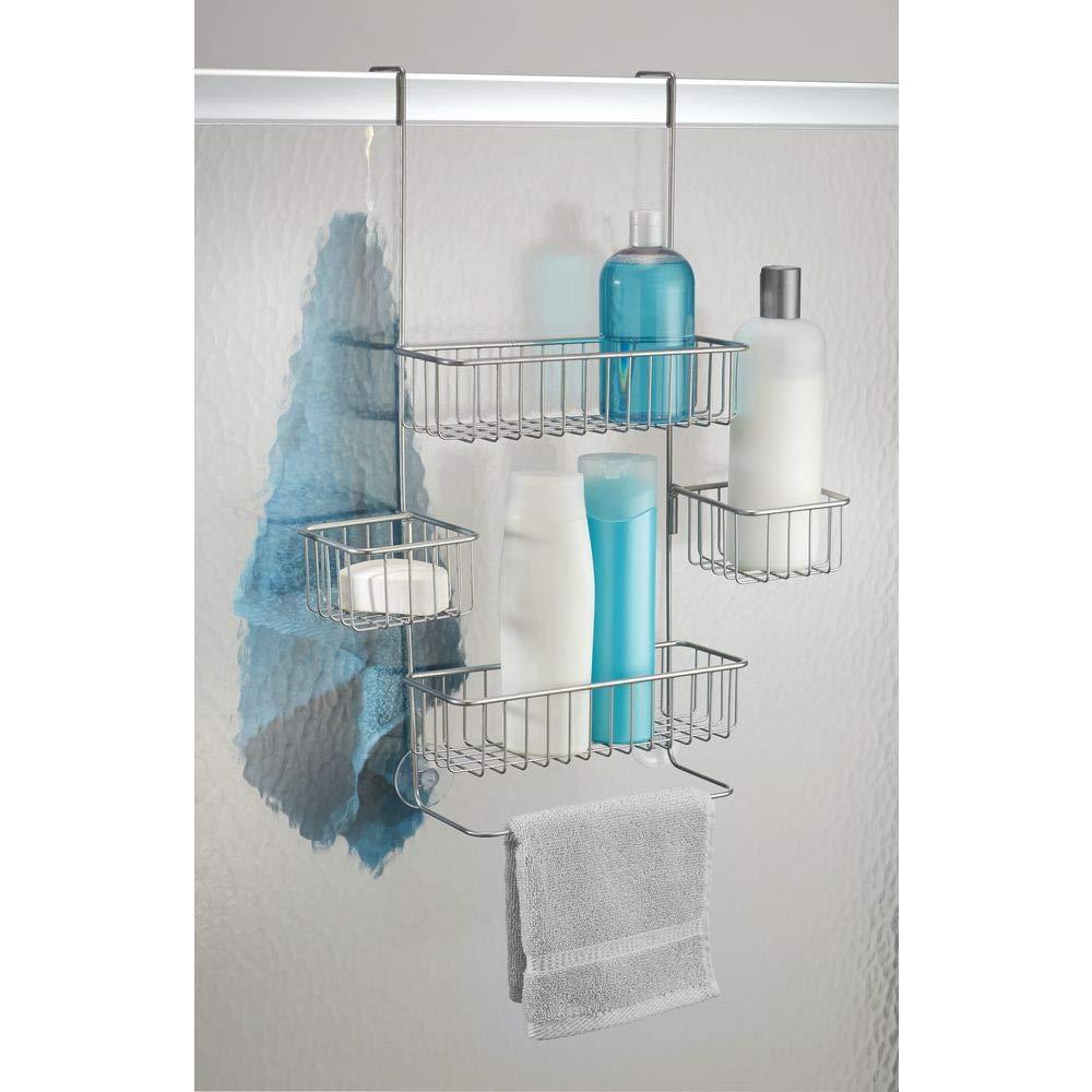 InterDesign Metalo Over-Door Shower Caddy, Hanging Bathroom Shelves ...