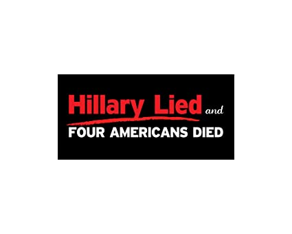 Car magnet four american died hillary lied bumper sticker trm 268