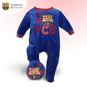 Trajecito Fútbol Club Barcelona Bebé + Balón peluche del equipo: Amazon.es: Bebé