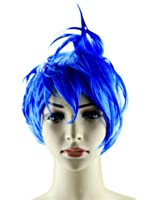 Adjustable Short Cosplay Wig Blue Green Hair Halloween Party Costume
