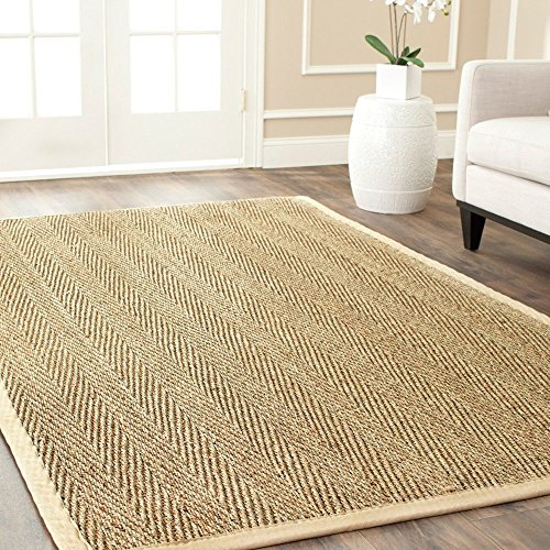 1 Piece 3x5ft Natural Fiber Beige Brown Area Rug Seagrass...