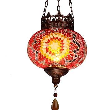Lámpara Tiffany-luz de techo hecha a mano/luz de techo de ...