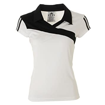 Adidas Response Camiseta de Manga Corta Polo para Mujer, Mujer, Color Blanco - Blanco, Negro, tamaño 38 [DE 36]: Amazon.es: Deportes y aire libre