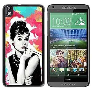 For HTC DESIRE 816 Case , Star Vintage Retro Movies 60'S Cinema - Diseño Patrón Teléfono Caso Cubierta Case Bumper Duro Protección Case Cover Funda