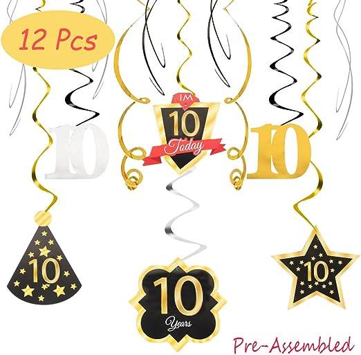 Amazon.com: Happy 10th cumpleaños 10 fiesta decoración de ...