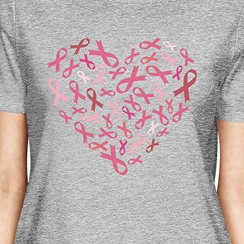 tama o para de mujer manga Un Printing coraz corta Camiseta 365 fRqPx8R