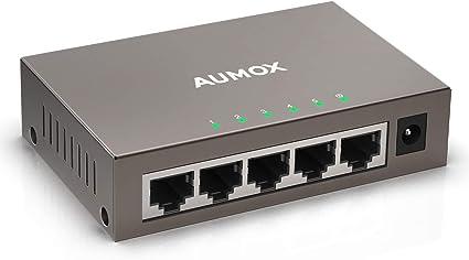 5 Ports Power over Ethernet Desktop Network Switch 10//100 Mbps LAN Hub Splitter