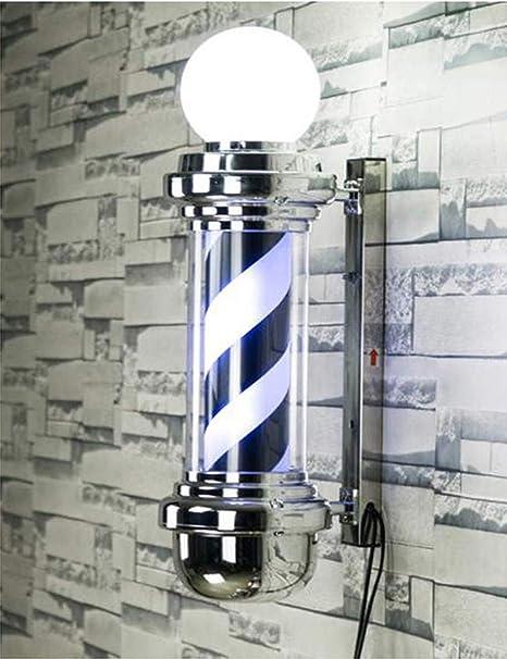 ZGDJZM LED Barber Pole - Black White Spinning Stripes Sign ...