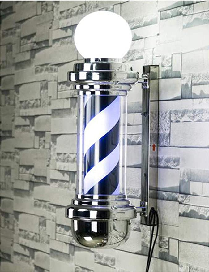 ZGDJZM LED Barber Pole - Black White Spinning Stripes Sign ...